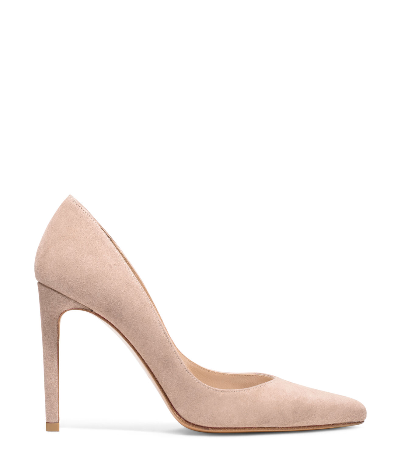 CURVIACurves Ahead: These pointed-toe pumps are sharp, sleek and super-sexy. Crafted from our signature luxe suede, they are distinguished by a unique vamp design; they're cut low on the sides for an elongating and eternally elegant silhouette and will instantly elevate every item in your wardrobe, from leather skinny pants to full-skirted dresses.<br>