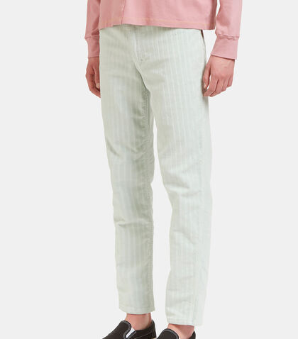 Striped Corduroy Straight Leg Pants by Eckhaus Latta