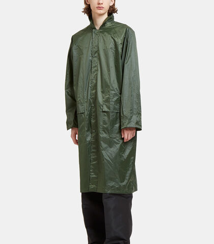 Oversized Large Logo Embroidered Raincoat by Serapis