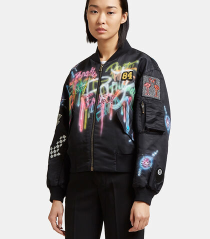 Spray-Painted Bejewelled Bomber Jacket by Marc Jacobs