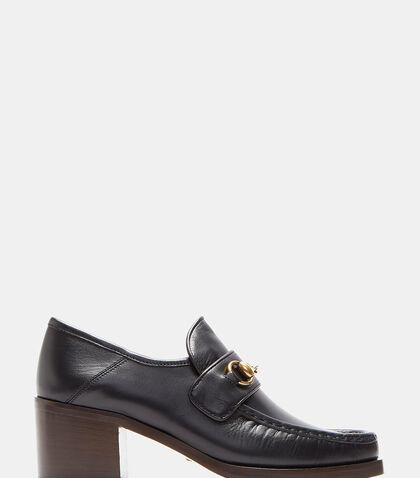 Vegas Heeled Horsebit Loafers by Gucci