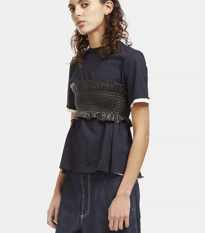 Ruched Leather Bandeau by Marni
