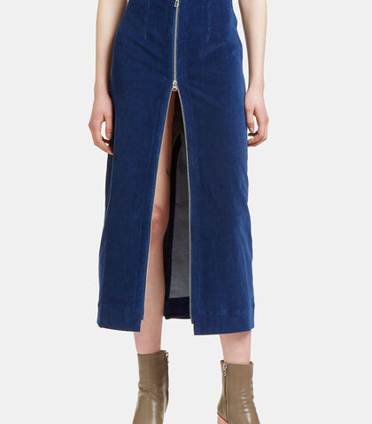 Velvet Zip-Up Skirt by Eckhaus Latta