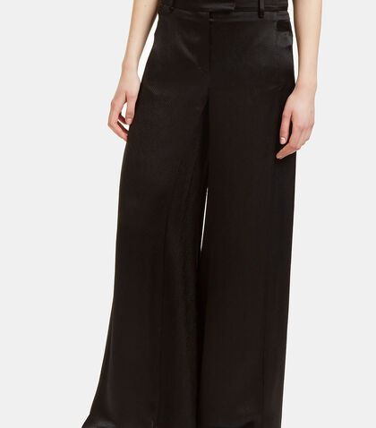 Oversized Flared Satin Pants by Valentino