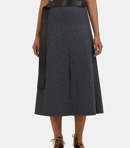 Hovana Mid-Length Wool Skirt by Calvin Klein Collection