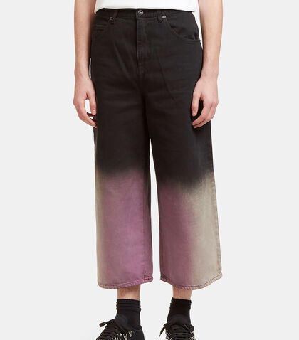 Acid Dipped Oversized Fit Jeans by J.W. Anderson