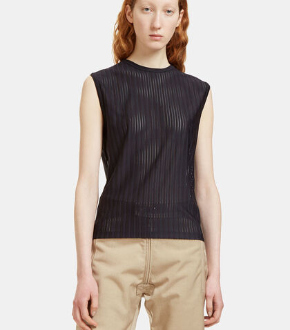 Marie Striped Mesh Vest Top by GmbH