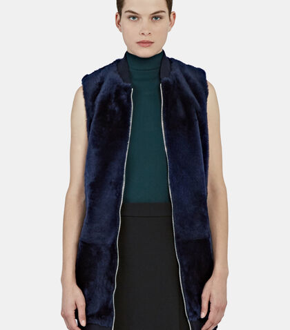 Long Lamb Fur Gilet by Drome