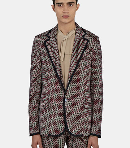 Tiled Jacquard Blazer Jacket by Gucci