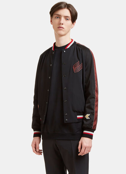 Buy Embroidered Patch Bomber Jacket by Lanvin men clothes online