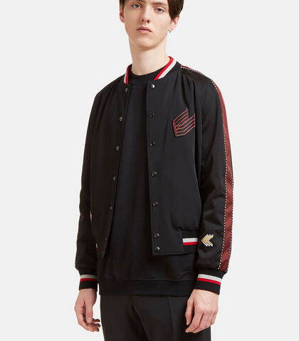 Embroidered Patch Bomber Jacket by Lanvin