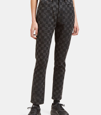 High-Waisted Checked Skinny Jeans by Marc Jacobs