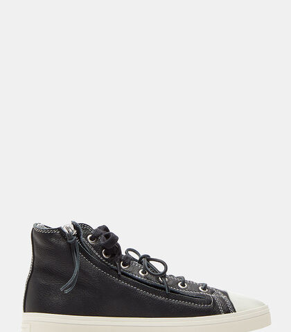 Rivington Zip-Up Mid-Top Sneakers by Saint Laurent
