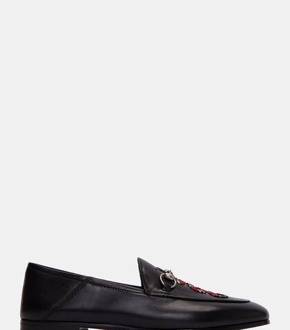 Snake Embroidered Horsebit Loafers by Gucci