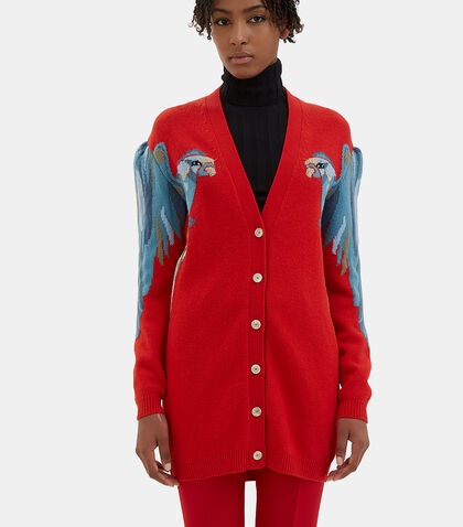 Oversized Parrot Knit Cardigan by Gucci