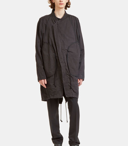 Arc Oversized Kimono Parka Jacket by Abasi Rosborough