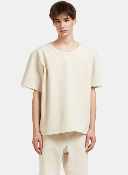 Buy Oversized Raw-Edged T-Shirt by Camiel Fortgens men clothes online