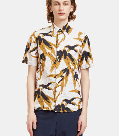 Swash Botanic Print Crumpled Shirt by Marni