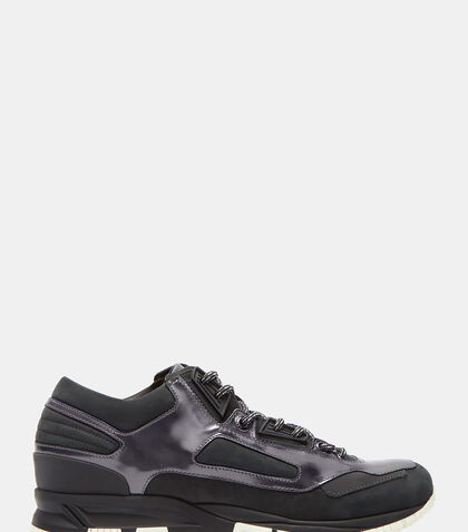 Low-Top Iridescent Panelled Running Sneakers by Lanvin