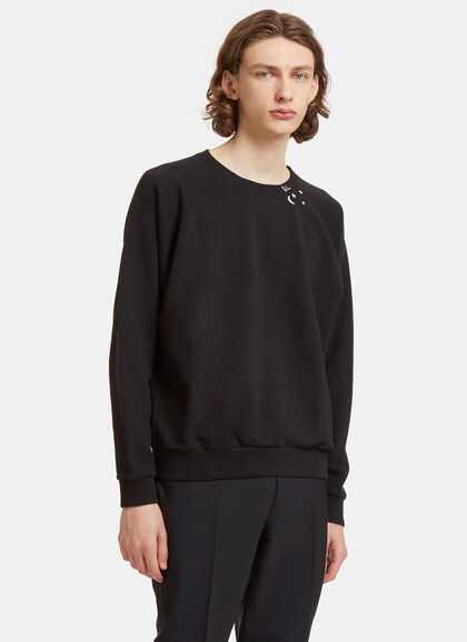 Buy Moon Star Raglan Sleeved Sweater by Saint Laurent men clothes online