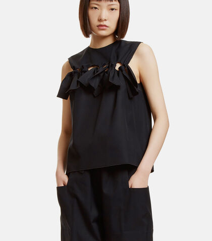 Oversized Bow Tied Top by Maison Rabih Kayrouz