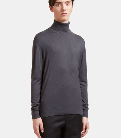 lncc male ribbed roll neck sweater