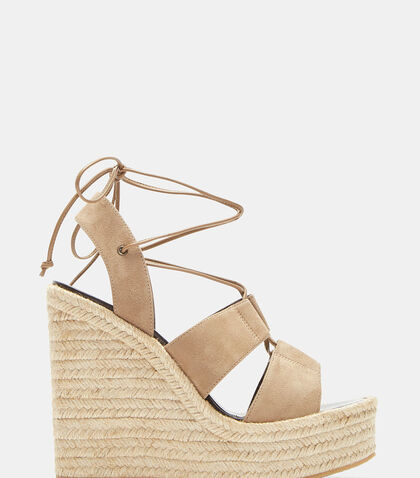 Espadrille 95 Wedge Sandals by Saint Laurent