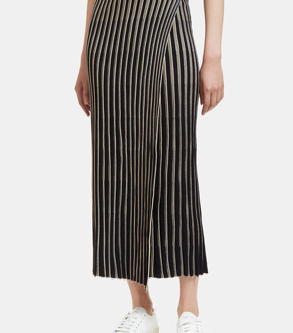 Raw Pinstriped Wrap Skirt by Helmut Lang