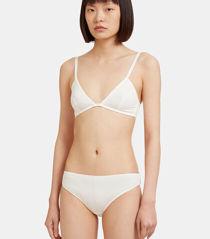 White Triangle Bra by Elliss