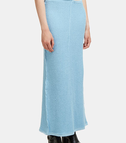 Lapped Terry Cloth Cut-Out Waist Skirt