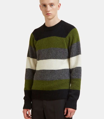 Striped Alpaca Knit Sweater by Ami