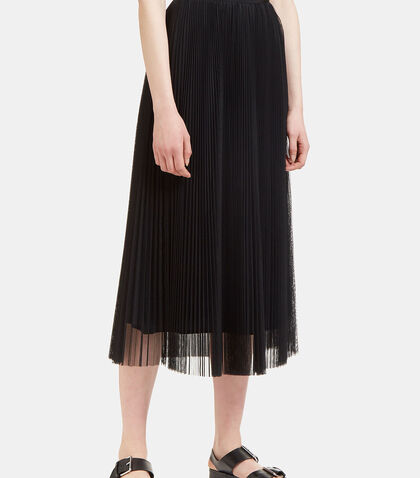 Long Pleated Tulle Skirt by MSGM