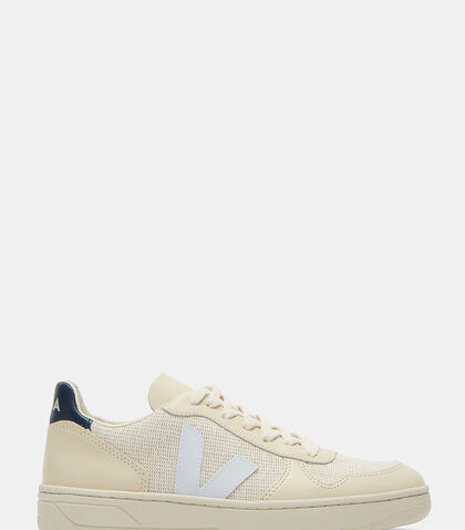 V-10 Mid-Top Jute and Leather Panelled Sneakers by Veja