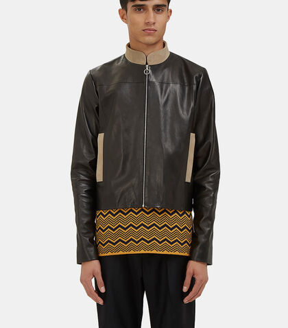 Studio Leather Jacket by Wales Bonner