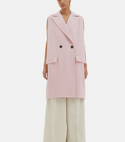 Oversized Double-Faced Crepe Gilet by Marni