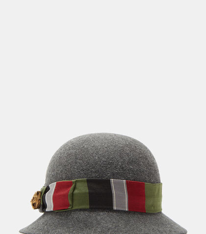 Tapestry Ribbon Felted Bowler Hat by Gucci