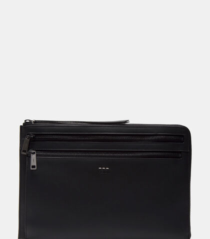 Grace Zipped Leather Document Case by Fendi