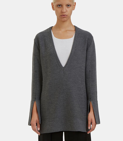 Barry Oversized V-Neck Sweater by Calvin Klein Collection