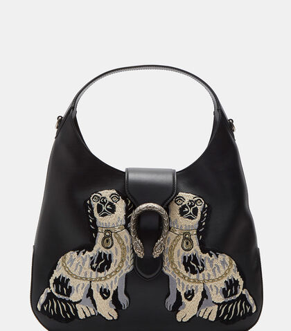 Dionysus Medium Dog Embroidered Hobo Bag by Gucci