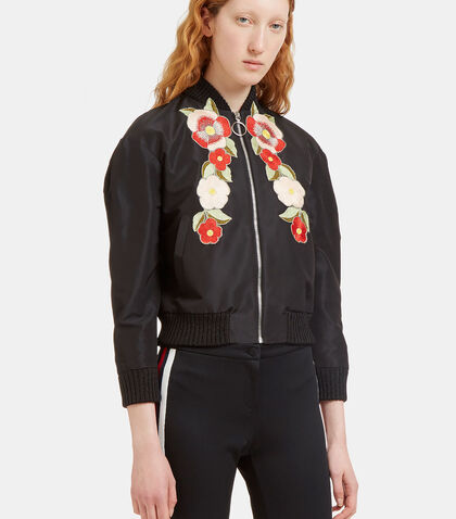 Flower Embroidered Bomber Jacket by Gucci