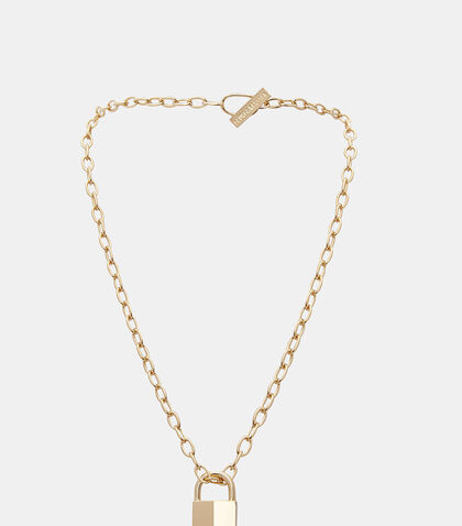 Padlock Chain Necklace by Lauren Klassen