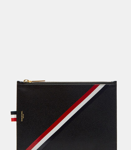 Diagonal Taped Stripe Coin Purse by Thom Browne