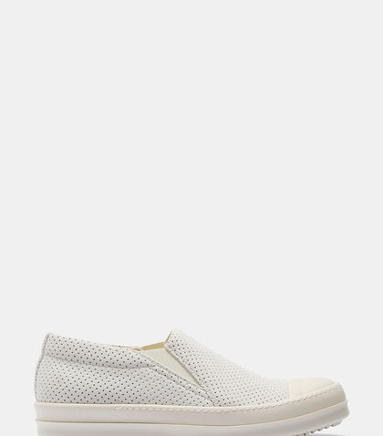 Perforated Slip-On Sneakers by Rick Owens Drkshdw