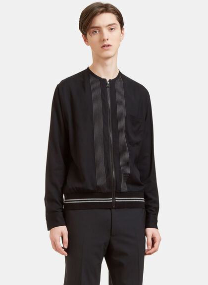 Buy Embroidered Zip-Up Shirt Jacket by Lanvin men clothes online