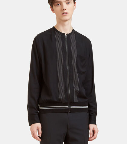Embroidered Zip-Up Shirt Jacket by Lanvin