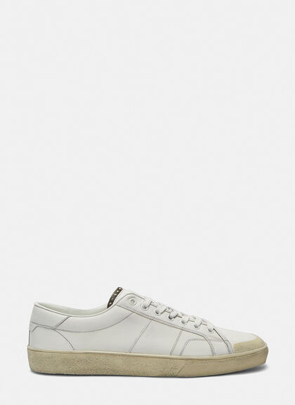 Buy SL/37 Studded Low-Top Distressed Sneakers by Saint Laurent men clothes online