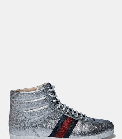 Sparkly High-Top Sneakers by Gucci
