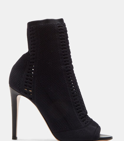 lncc female vires heeled knit ankle boots