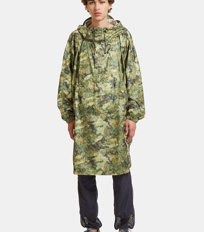 Camo Printed Artwork Poncho Jacket by Snow Peak