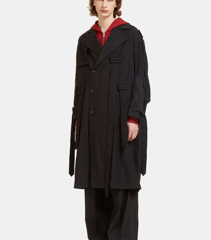 Oversized Belted Trench Coat by Yang Li